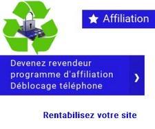 Affiliation déblocage téléphone